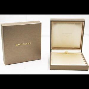 Bvlgari Gold Necklace  box
